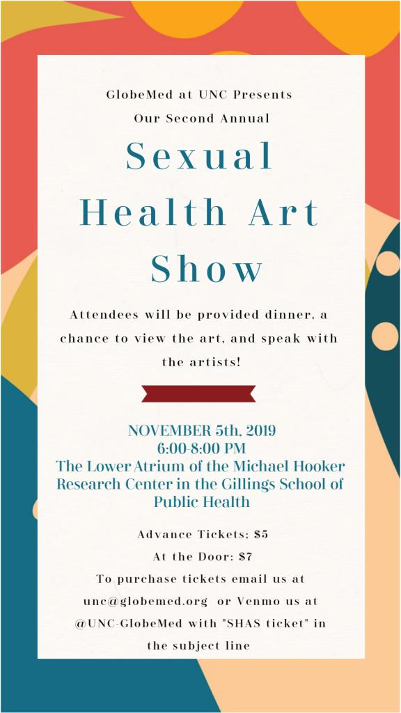 Sexual Health Art Show Ticket Flyer
