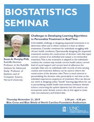 Flyer for BIOS Seminar with Susan Murphy