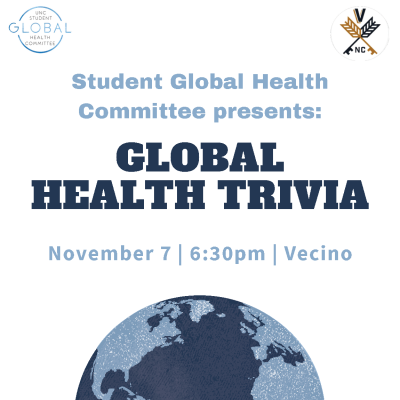 Flyer for Global Health Trivia Night