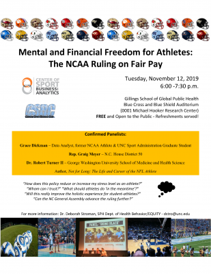 Flyer for Mental and Financial Freedom for Athletes Lecture