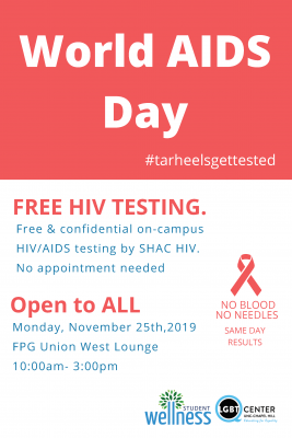 Flyer for World AIDS Day 2019