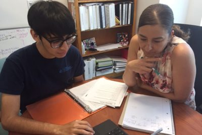 ose Lopez (left) works with Associate Professor Dr. Sotres-Alvarez