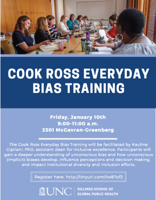 Flyer for Cook Ross Everyday Bias Training