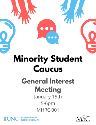 Flyer for Minority Student Caucus Interest Meeting