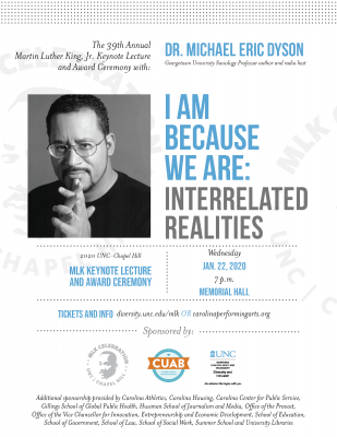 Flyer for MLK20 Lecture with Dr. Michael Eric Dyson