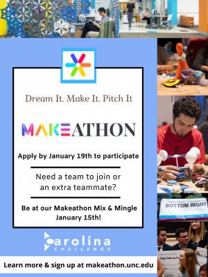 Flyer for Makeathon Info Session