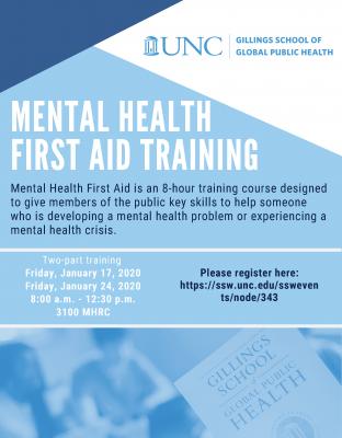 Mental Health First Aid Training Flyer