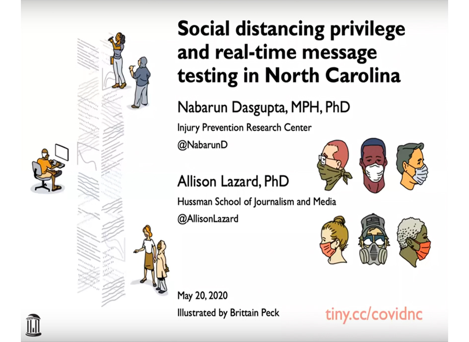 Research Webinar: Social distancing privilege and real-time message testing in North Carolina