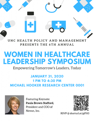 Flyer for Women in Healthcare Leadership Symposium