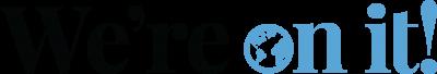 horizontal wordmark in blue and black