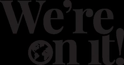 vertical wordmark in black