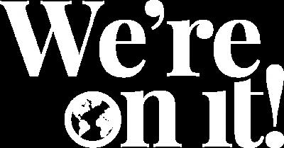 vertical wordmark in white