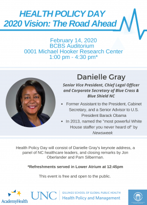 Flyer for 2020 Health Policy Day