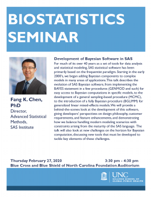 Flyer for Chen lecture