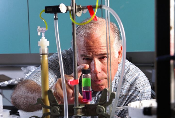 Dr. Philip Singer works in his lab in 2004.