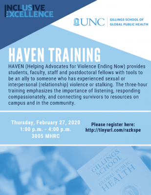 Flyer for HAVEN training