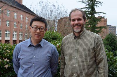 Dr. Yang Ou (left) and Dr. Jason West