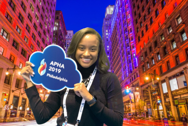 Makala Carrington at the 2019 APHA Annual Meeting in Philadelphia