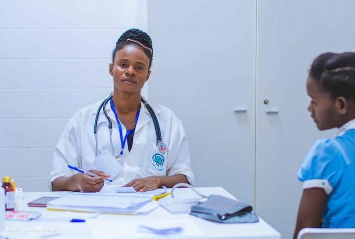 A health care provider works in Angola.