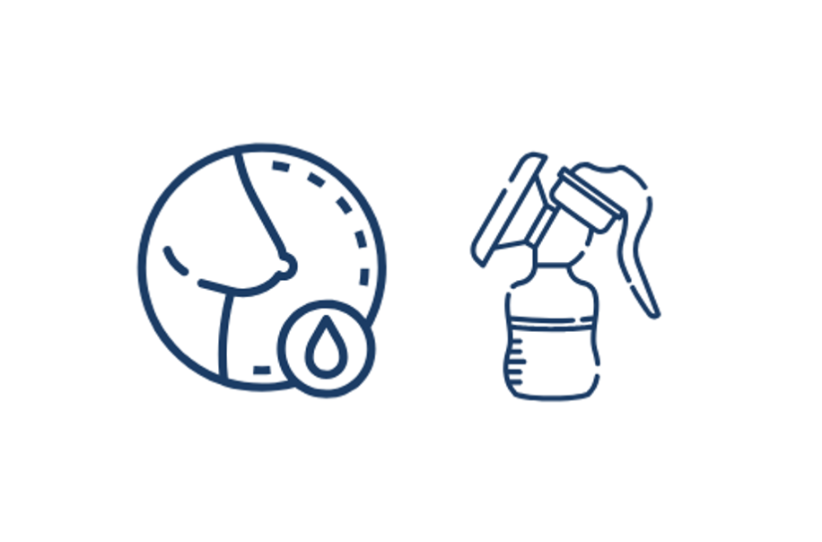 Breast pump icons