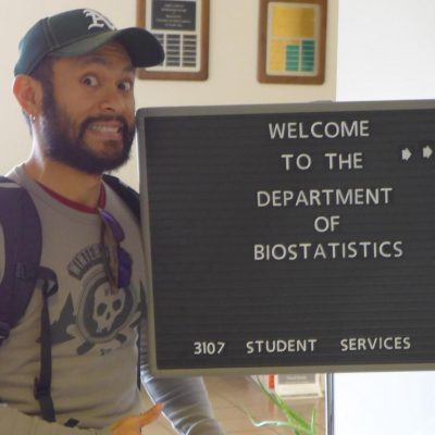 Eric J. Daza circa 2014 at the Department of Biostatistics of the Gillings School of Global Public Health.