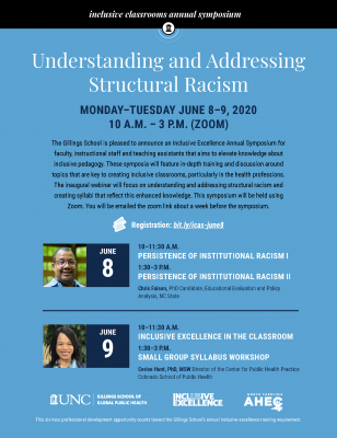 Inclusive Classrooms Annual Symposium - Understanding and Addressing Structural Racism