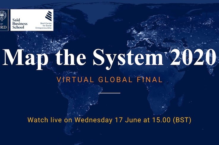 This is the logo for Map the System 2020.
