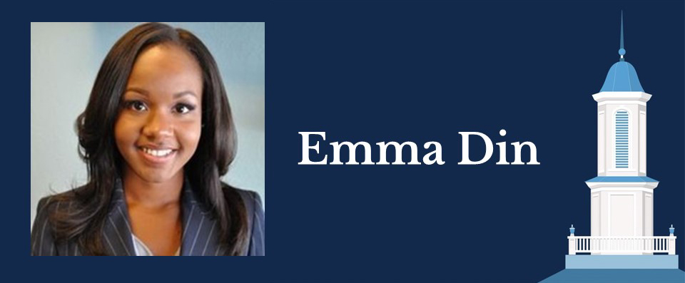 Portrait of Health Policy and Management alumna Emma Din
