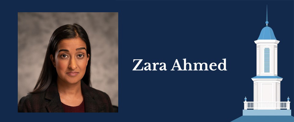 Portrait of Health Policy and Management alumna Zara Ahmed