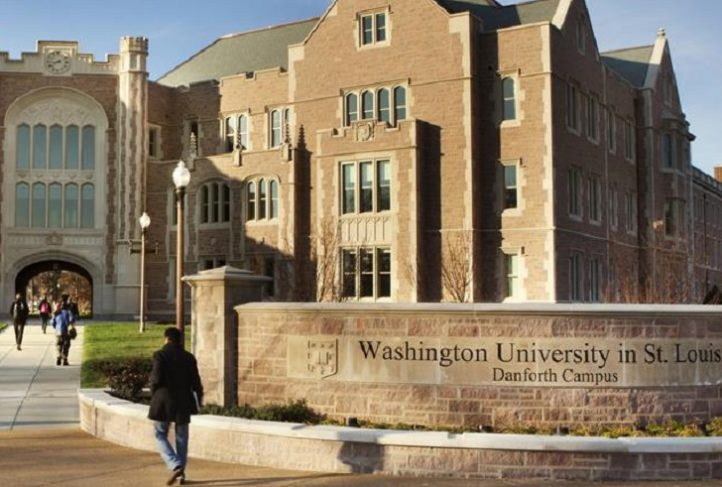This is the front of Washington University in St. Louis, Missouri