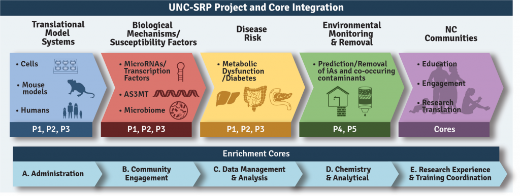 SRP Project and Core Integration Diagram