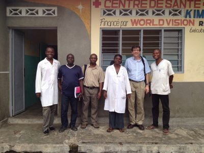Dr. Meshnick stands with colleagues in the DRC.