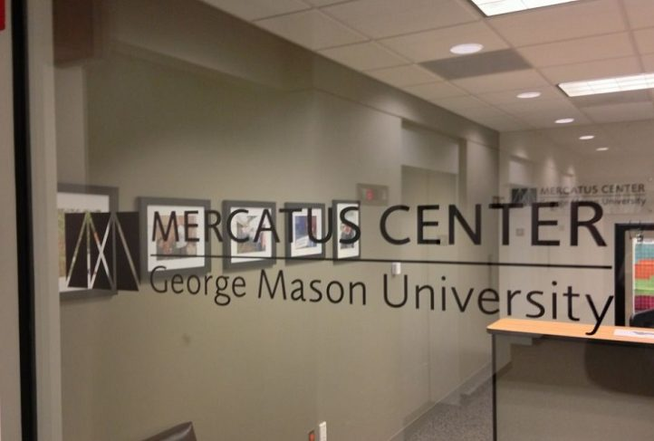 This is a photo of the entryway to the Mercatus Center