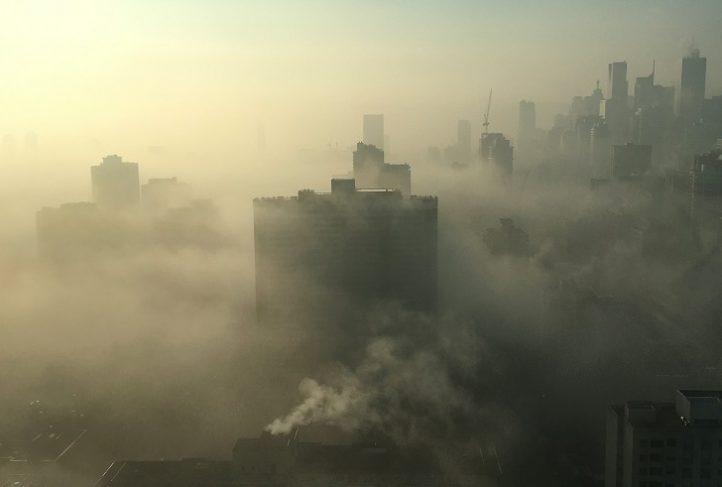 Pollution in Toronto, Canada.