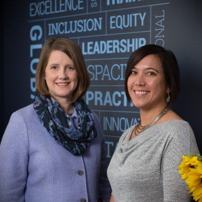 Catherine Sullivan (left) and Dr. Aunchalee Palmquist