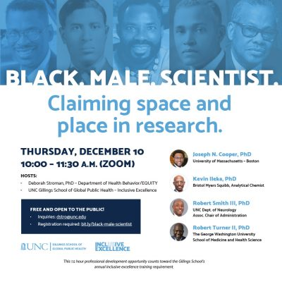 Black. Male. Scientist. Claiming space and place in research.