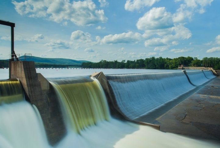 This is an example of hydropower in action at Holyoke Gas and Electric.