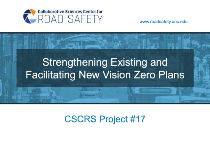 This is the cover of the CSCRS Vision Zero guide.