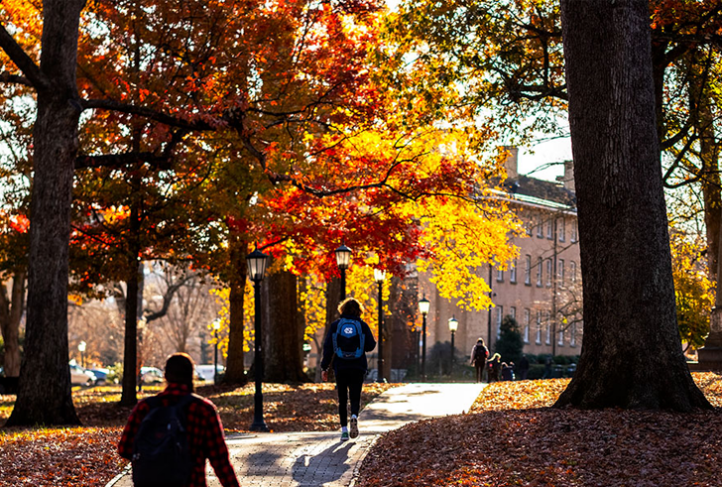Fall campus scene on the campus of the University of North Carolina at Chapel Hill. December 3, 2019. (Jon Gardiner/UNC-Chapel Hill)