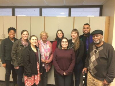 Leaders from the Sampson County community welcomed Courtney Woods into their local environmental justice efforts.
