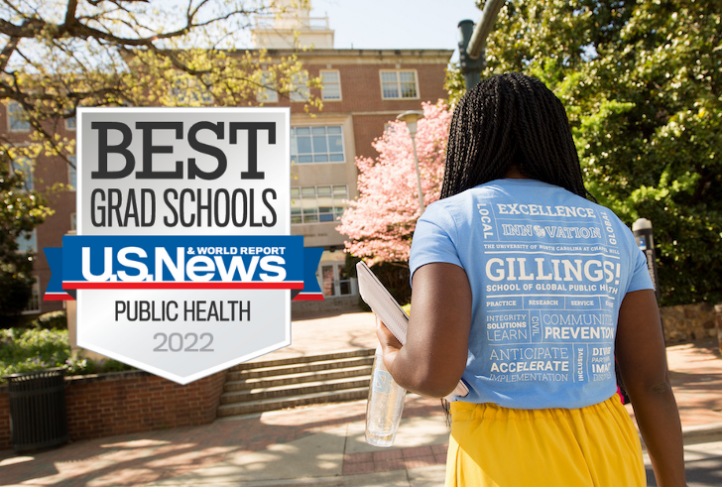 U.S. News ranked UNC Gillings among the top schools and programs of public health.