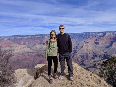 Dr. Anna Austin and her husband visit the Grand Canyon.
