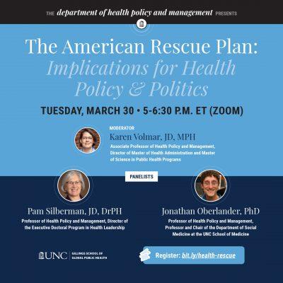 Flyer for American Rescue Plan webinar
