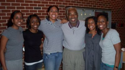 Bill Small and the 2007-08 Minority Student Caucus executive board.