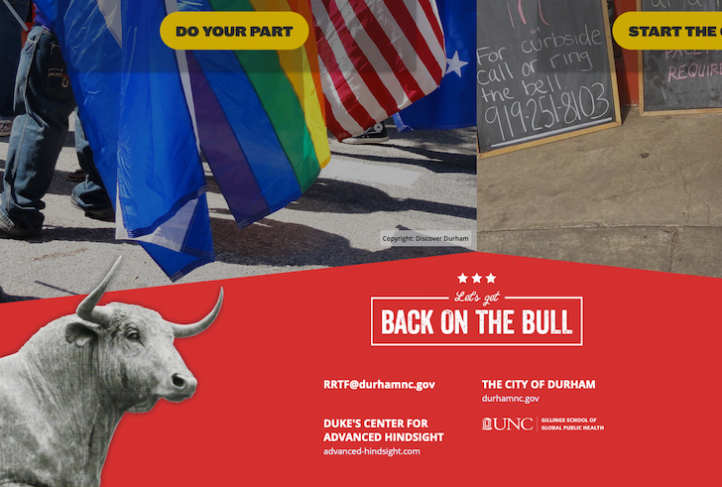 The Back on the Bull website displays partner logos.