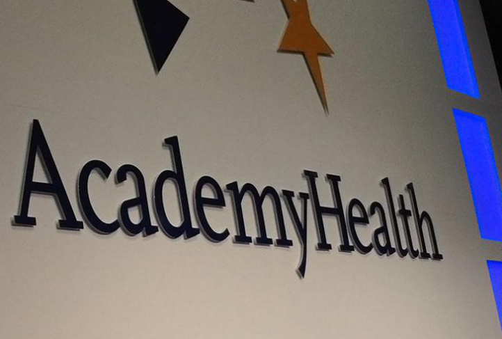 This is a banner with the AcademyHealth logo.
