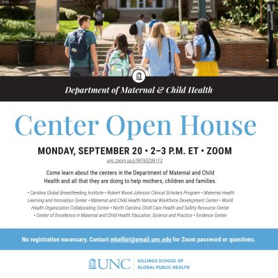 Flyer for MCH Open House