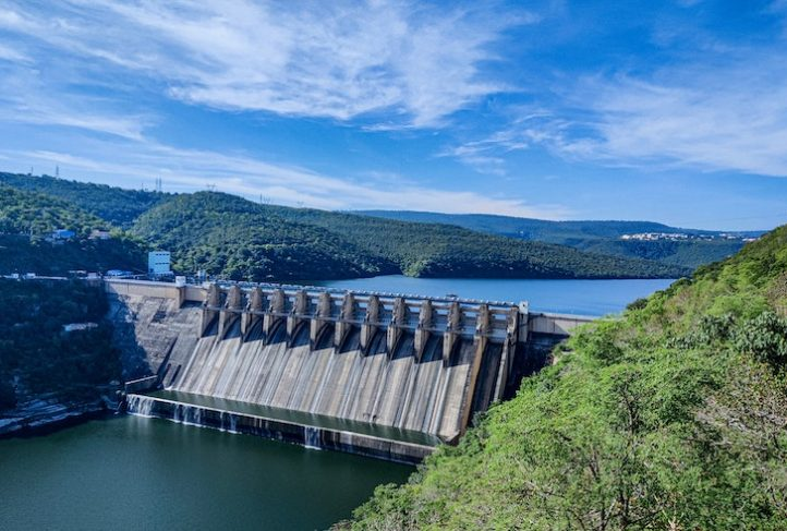 This is the Srisailam Dam in India.