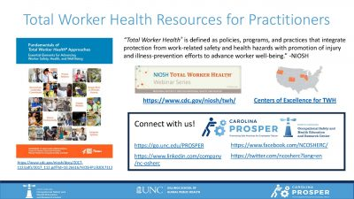 Total Worker Health Resources Front Page