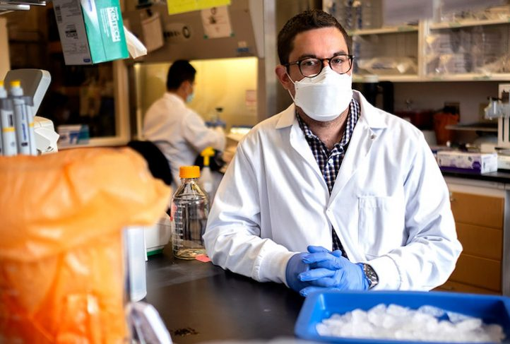 Dr. David Martinez works in the Baric Lab at UNC.